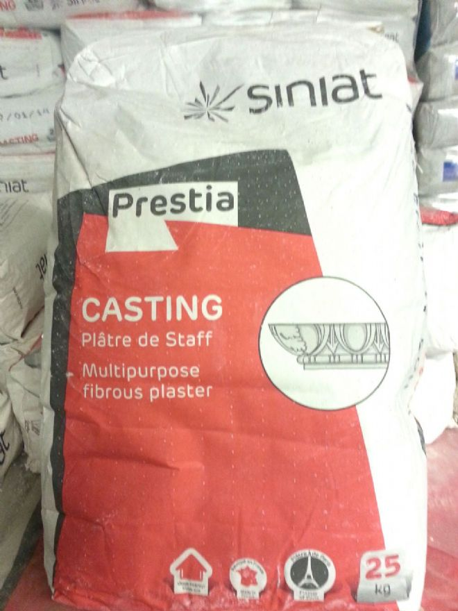 **WEB SPECIAL**  Siniat Prestia Casting Plaster - Pallet (40 bags)